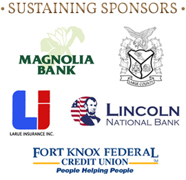 LaRue County chamber of commerce sustaining sponsors Magnolia Bank, Lincoln National Bank, Fort Knox Federal Credit Union, LaRue County Schools, LaRue Insurance