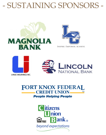 LaRue County chamber of commerce sustaining sponsors Magnolia Bank, Lincoln National Bank, Fort Knox Federal Credit Union, Elizabethtown Community and Technical College, LaRue Insurance